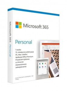 Microsoft 365 Personal PL 1 Rok 1 User BOX Win/Mac QQ2-01000