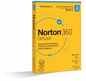 Norton 360 Delux 25GB PL 1 USER 3 DEVICE 1 ROK ESD 21408143