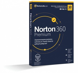 Norton 360 Premium 75GB PL 1 USER 10 DEVICE 1 ROK BOX 21408749