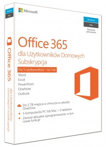 Microsoft Office 365 Home 1 Rok PL BOX 6GQ-00704